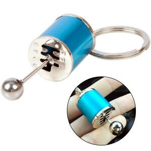 Blue Car Tuning Parts Key Chain Turbo Nos Gearshift Keychain Absorber Keyring