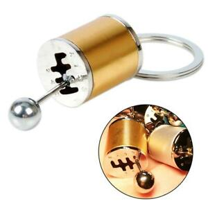 Golden Car Tuning Parts Key Chain Turbo Nos Gearshift Keychain Absorber Keyring