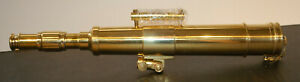 Nos Nautical Brass Telescope W Tripod From The Smithsonian Catalogue 76165