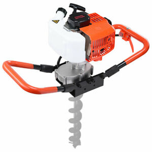 One man earth auger 2 2hp 52cc gas powered post hole digger machine 2 stroke Epa