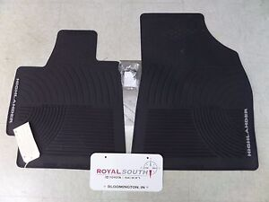 Toyota Highlander 08 11 Front Factory All Weather Rubber Floor Mats Genuine Oem