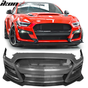 Fits 15 17 Ford Mustang Gt500 Style Front Bumper Cover Replacement Pp