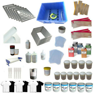 6 Color Screen Printing Materials Kit Washout Tank squeegee Ink Tools Supply Usa