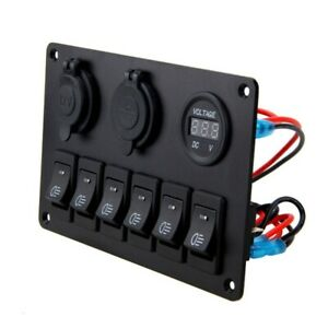 12v 6 Buttons Waterproof Car Auto Boat Marine Led Rocker Switch Panel Circuit