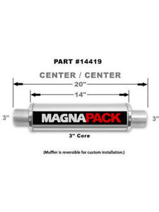 Magnaflow Perf Exhaust Muffler Bullet 3 In Center Inlet 3 In Center Out 14419