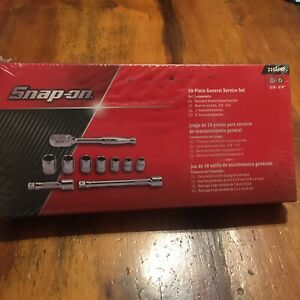 New Snap On 3 8 Dr 10 piece General Service Set 210afsp