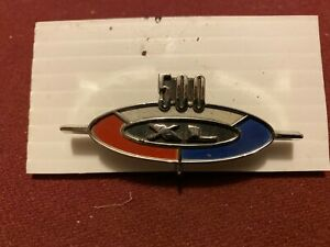 Nos 1963 Ford Galaxie 500 Xl Glove Box Door Emblem Fastback Convertible