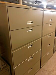 5 Drawer Lateral Size File Cabinet By Hon Office Furniture Model 685l
