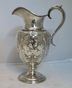 Vintage Coin Silver Pitcher