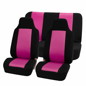 Highback Seat Covers Seat For Car Auto Suv Van Full Set Pink Black