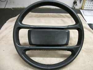 Porsche 944 Steering Wheel Black Leather Late Car 1985 And Up