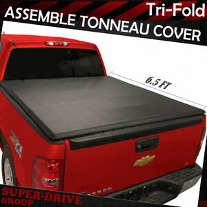 Fits 1994 2001 Dodge Ram 1500 6 5ft Assemble Lock Tri fold Soft Tonneau Cover