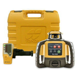 Topcon Rl h5a Self leveling Rotary Laser Level Receiver Rechargeable Battery