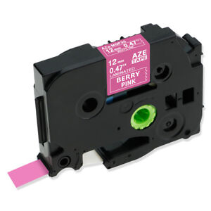 Tze Tz mqp35 Pink Compatible Brother P touch Label Maker Tape Laminated 12mm