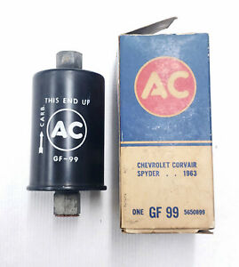 1962 66 Corvair Turbo Spyder Gf99 Black Fuel Filter Assembly Nos New W Box Nice