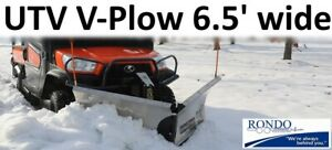Clearance Snow Plow Snowdogg Vut65 V plow Reliable Strong Perfect For Utv s