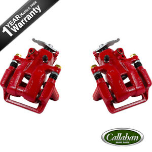Rear Red Powder Coated Calipers For Acura Tsx Honda Accord Coupe Sedan