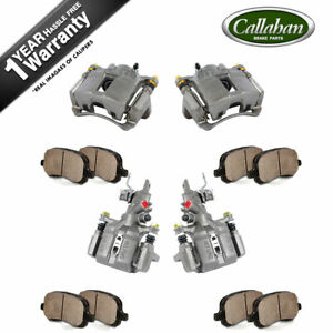 Front Rear Brake Calipers Pads For 2003 2004 2005 2006 2007 Honda Accord