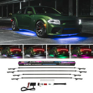 Ledglow Lighting 7 Color Slimline Multi Color Underglow Car Led Neon Light Kit