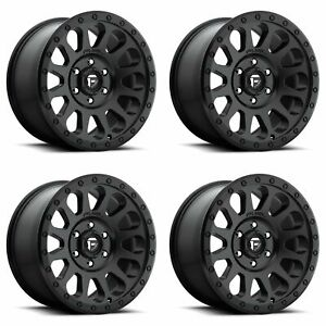 4x Fuel 17 Vector D579 Wheels Matte Black 17x9 6x5 5 6x139 7 12mm 4 50 bs