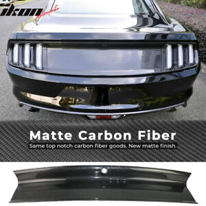 Fits 15 17 Ford Mustang Vintage Style Trunk Boot Cover Panel Matte Carbon Fiber