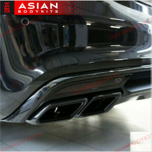 Black Exhaust Tips For Mercedes Benz Amg S63 W222 2013 2017