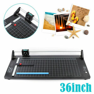 36 Inch Precision Rotary Paper Trimmer Heavy Duty Rolling Photo Paper Cutter New