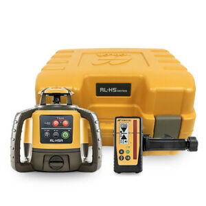 Topcon Rl h5a Rotary Laser Level W Ls 100d Receiver And Rechargeable Battery