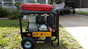 Honda 4 inch Gas Water Trash Pump Never Used Comes With Trailer And Gas Pan