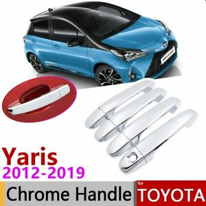 For Toyota Yaris Xp130 Vitz 2012 2019 Chrome Door Handle Cover Car Accessories