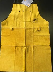 Gloves Castle Ws 507 Side Split Cowhide Leather Bib Apron 24 X 36 New
