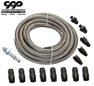 Braided Stainless Ls Conversion Efi Fuel Injection Hose Line Fitting Install Kit