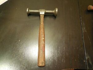 Vintage Blue Point Auto Body Hammer 2 Round Heads Free Usa Shipping