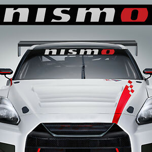 Nismo Windshield Decal Sticker For Nissan Sentra Altima 200sx 350z Murano Srt