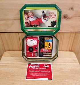Rare Vintage Coca Cola 35MM Flash Camera Year 2000 With Tin, Film, and Case