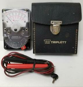 Triplett 310 Vintage Bell telephone Analog Ohm Meter Ac dc Voltage 1200 Volts