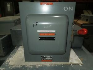 Ge Tc35323 100a 3ph 3p 240v Double Throw Non fused Manual Transfer Switch
