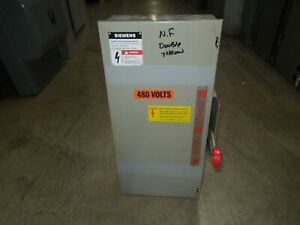 Siemens Nf352dtk 60a 3p 600v Ac Double Throw Non fusible Manual Transfer Switch