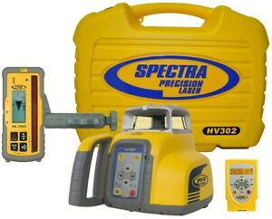 Spectra Precision Hv302 Rotary Laser Level Hl760 Receiver Nimh Battery Remote