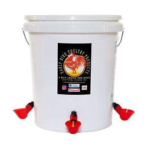 Automatic Poultry Waterer Kit Food Grade 5 Gallon Bucket Included