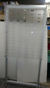 Optical Display For 96 Eyewear Frames Wall Or Gound Mount Acrylic With Wheels