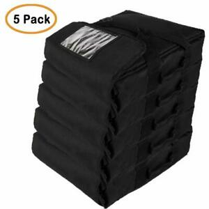 Professional Heavy Insulated Pizza Delivery Bag 20 x20 x9 pack Of 5 Black