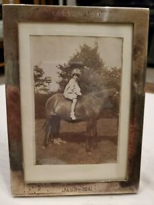 1941 Sterling Silver Photo Frame Watrous Mfg Co Wallingford Ct 7 X 5 32