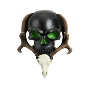Black Resin Skull Model Car Gear Stick Manual Shifter Knob Shift Lever New Style