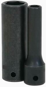 1 2 Drive Deep Impact Socket 6 Point S a e Black Industrial Finish Williams