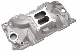 Edelbrock 7163 Intake Chevy Big Block Rectangular Port W Free Intake Gaskets
