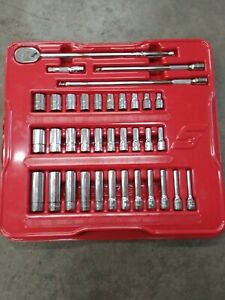 Snap on Tools 1 4 Drive 36pc Standard General Service Set Sockets Extensions