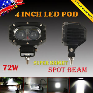4 Inch Spot Led Pod Work Light Driving Fog Lamp For Offroad Atv Utv Truck Boat