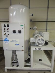 10 Hp Medical Vacuum Pump Low Hrs Medaes Rco250 208v 3 Phase Tank Vacuum Plant