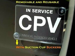 Premium CPV commercial passenger vehicle Victoria Sticker sign Suction Cup Cling $8.54
